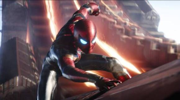 Avengers Infinity War: Tom Holland's Spider-man slings web in the newclip