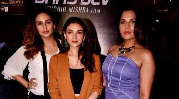 Who wore what: Aditi Rao Hydari, Huma Qureshi, Richa Chadha at Daas Dev premiere