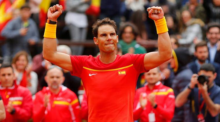 Davis Cup: Record-setter Rafael Nadal roars back as Spain draw level against Germany; Italy hold France