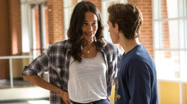 Laura Harrier and Tom Holland in Spider-Man Homecoming