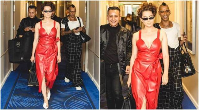 Cannes 2018: Kangana Ranaut proves that she is the real QUEEN of hearts in this red faux leather dress