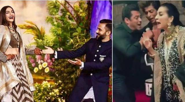 Sonam Kapoor-Anand Ahuja's wedding reception had Shah Rukh, Salman and Anil Kapoor dancing their hearts out