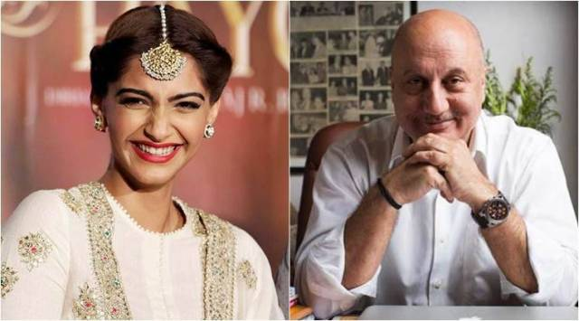 Bride-to-be Sonam Kapoor gets a congratulatory message from Anupam Kher for herwedding