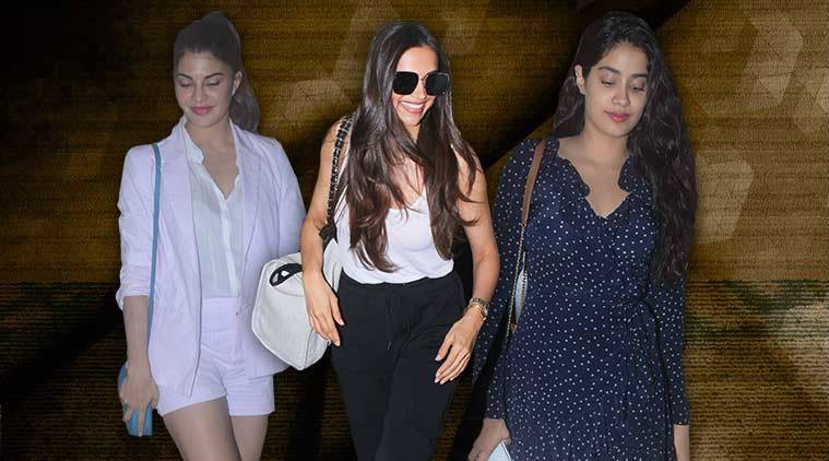 celeb fashion, Bollywood fashion, Deepika Padukone, Jacqueline Fernandez, Janhvi Kapoor, indian express, indian express news