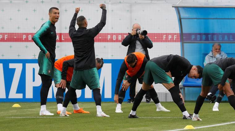 FIFA World Cup 2018: Portugal's Cristiano Ronaldo receives maximum cheers in first training session inRussia