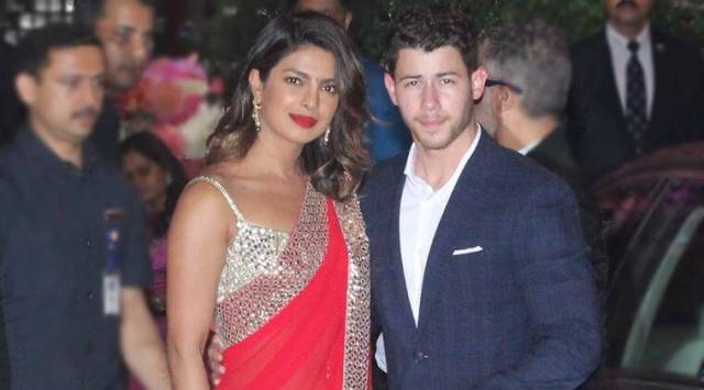 Priyanka Chopra attempts Desi girl 2.0 in a red Abu Jani-Sandeep Khosla sari
