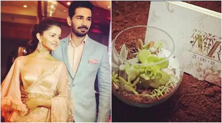 Rubina Dilaik and Abhinav Shukla go eco-friendly for their wedding invite