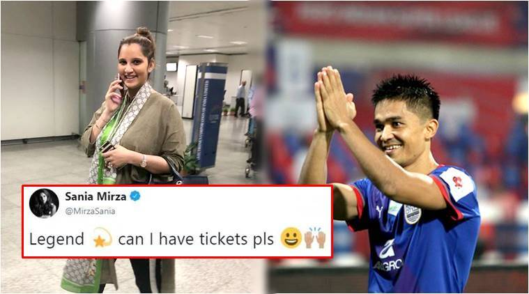 Sunil Chhetri and Sania Mirza's 'give and take' tweets for tickets crack Twitteratiup
