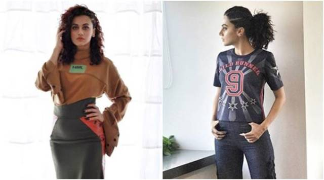 Soorma promotions: Taapsee Pannu ups her fashion game in asymmetric skirts and slit trousers