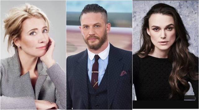 Queens honours for Emma Thompson, Tom Hardy and Keira Knightley