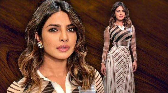 Trust Priyanka Chopra to pull off any look; even this busy geometric print Fendi outfit