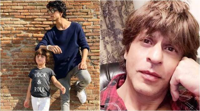 Shah Rukh Khans sons, Aryan and AbRam, show sibling love in Europe