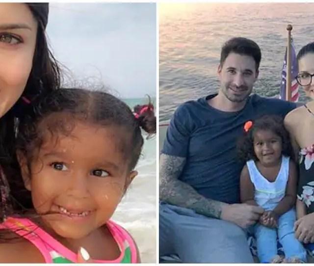 Sunny Leone Daughter Nisha Kaur 3rd Birthday Mexico Family Picture
