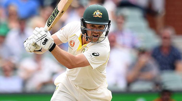 Australia's batsman Travis Head plays a shot on day two of the first test match between Australia and India at the Adelaide Oval