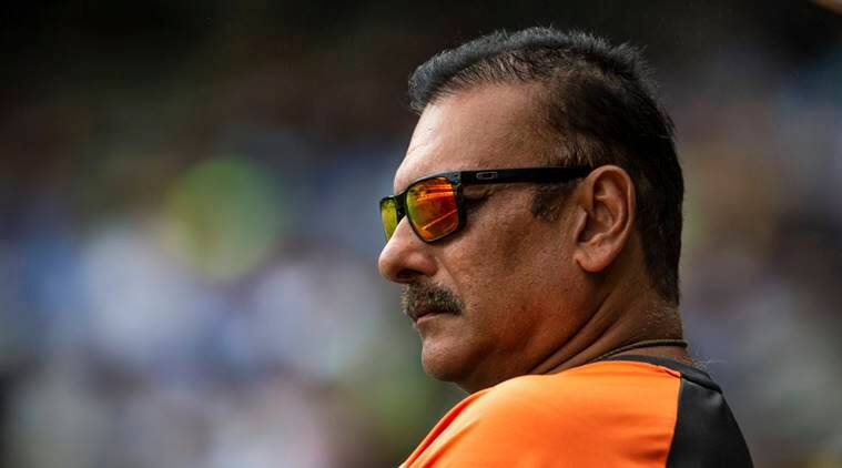 Head coach of the Indian cricket team Ravi Shastri during a play on day two of the third cricket test between India and Australia in Melbourne, Australia