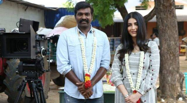 Labaam actors Vijay Sethupathi and Shruti Haasan
