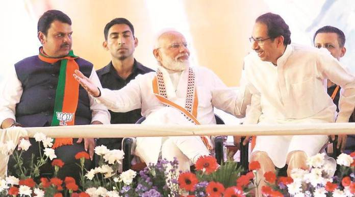 Image result for Narendra Modi, at final rally before Maharastra Assembly polls in Mumbai, claims Congress failed to act after terror attacks