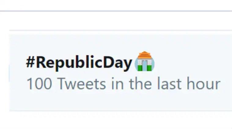 Twitter, Republic Day, Happy Republic Day, Twitter Republic Day emoji, #RepublicDay, Twitter new emoji, 71st Republic Day