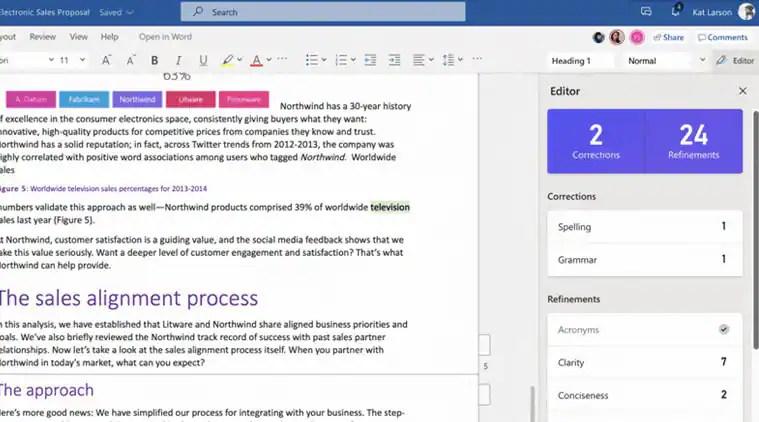 Microsoft AI-based Editor