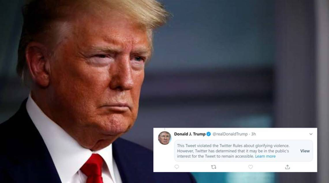After fact-check, Twitter flags Donald Trump's tweet for 'glorifying  violence' | World News,The Indian Express
