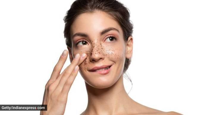skincare tips, skincare, easy DIY face scrub, peanut powder for skin, coffee powder for skin, indian express, indian express news