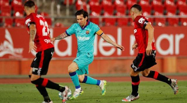 Lionel Messi leads Barcelona to flying return against Mallorca ...