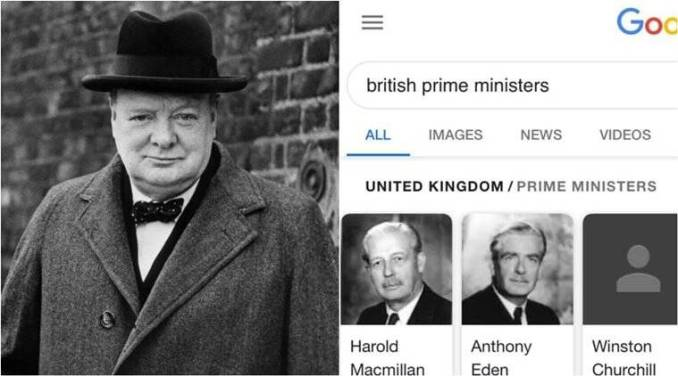 Why photos of Winston Churchill disappeared from Google search results