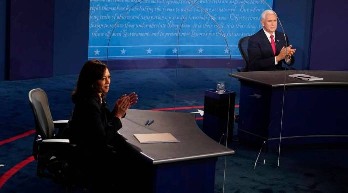 Kamala Harris, Mike Pence, vice presidential debate, US elections, Donald Trump, Joe Biden, Trump covid, presidential debate, indian express