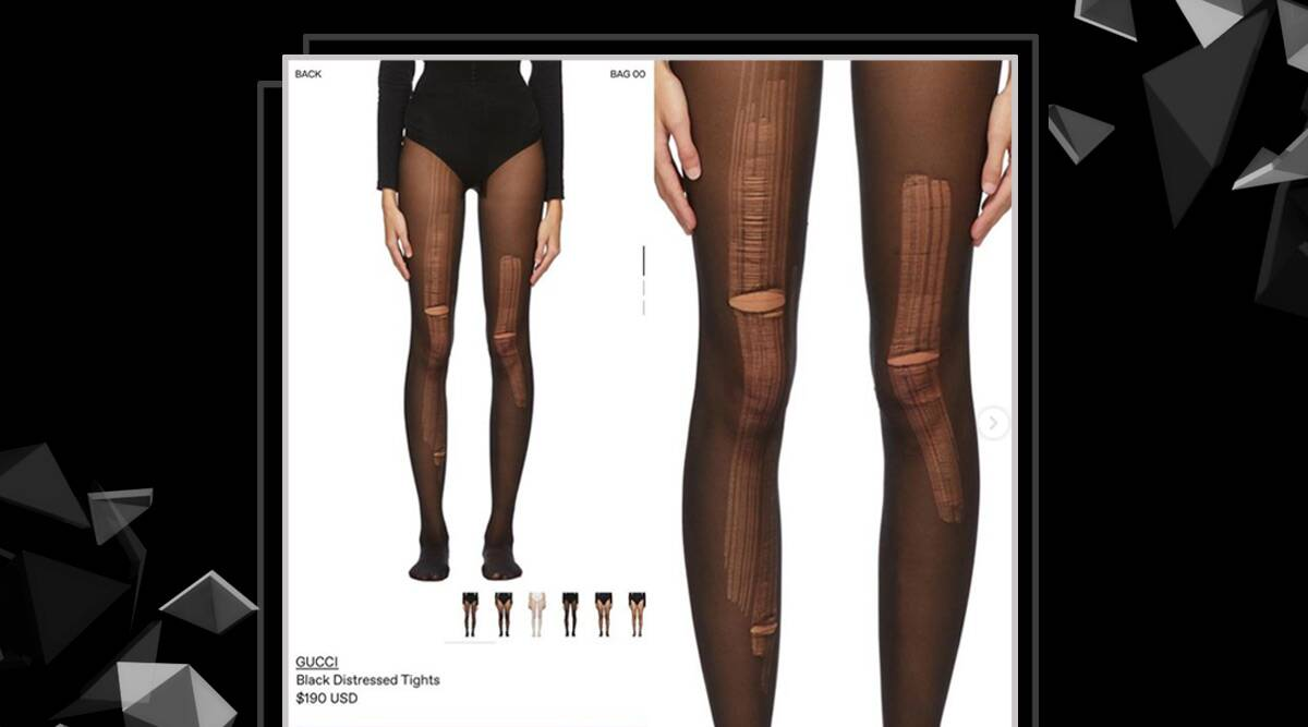 prada Gucci is now selling distressed stockings; can you guess the price?