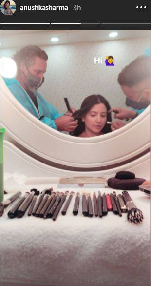 Capture 6 Anushka Sharma looks ethereal in this gown as she resumes shooting; see pics