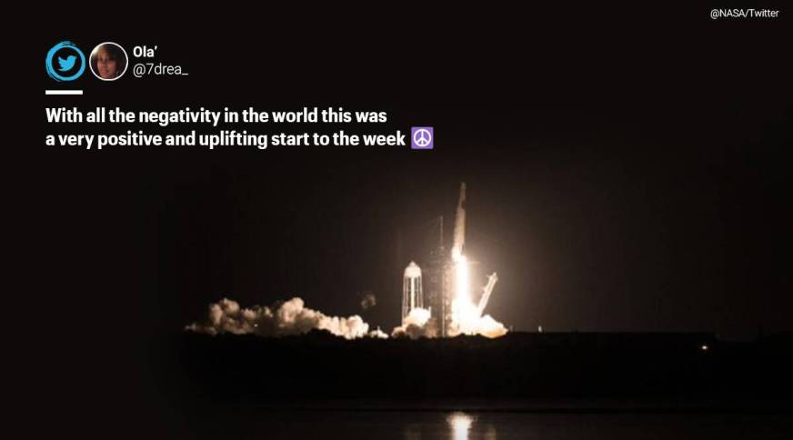 People cheer on social media as SpaceX, NASA launch second ...