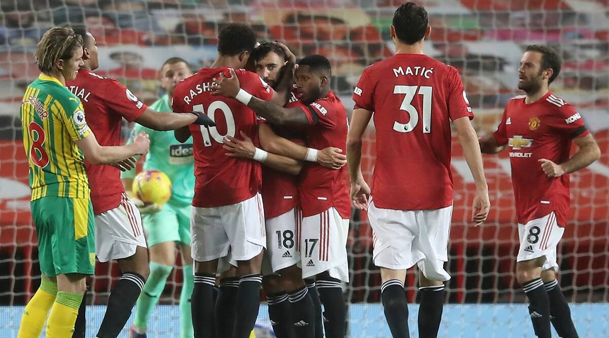 man united ap Manchester United get 1st league win at home with help from VAR