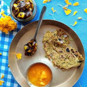 platter 1 Mindful celebration to mindful eating: Bajra dodoh for your quick lunch ideas