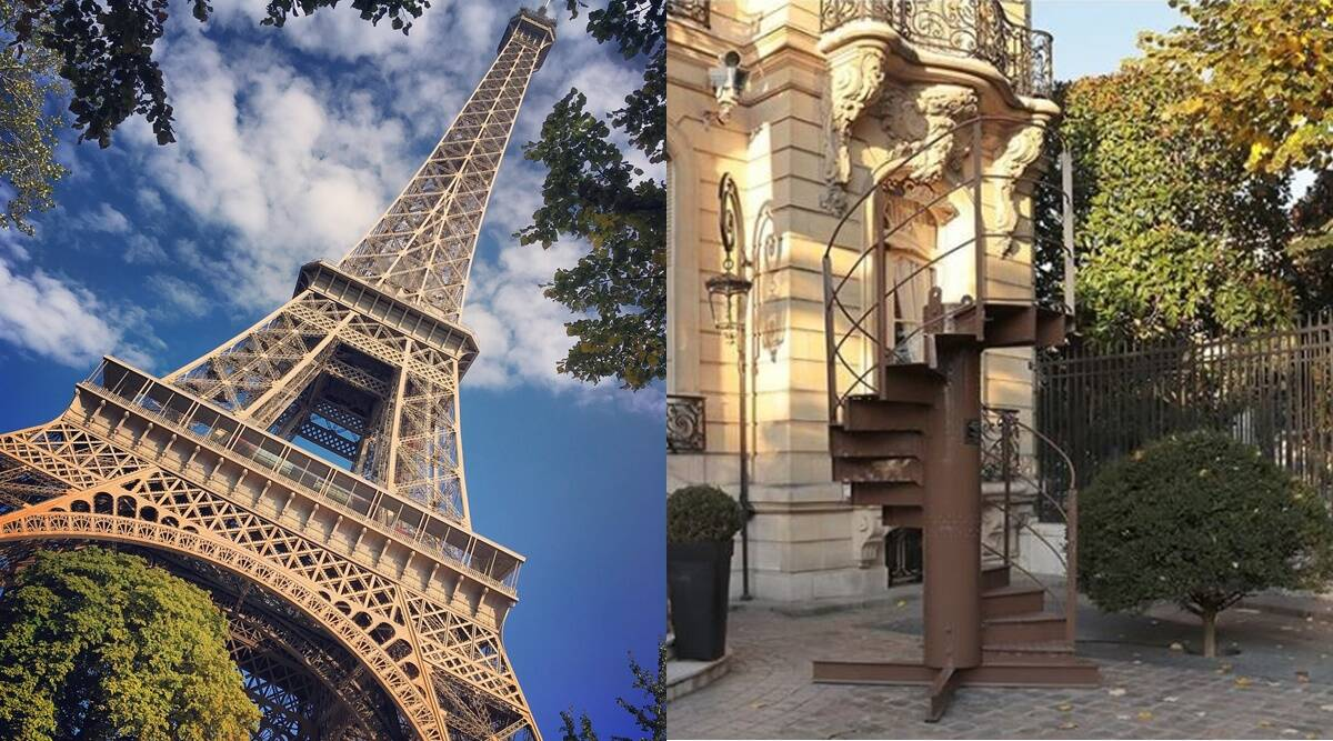 staircase Section of Eiffel Tower's original staircase up for sale; would you like to buy?