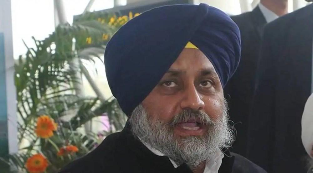 Sukhbir Singh Badal, Sukhbir Singh Badal says BJP tukde tukde gang, Sukhbir Singh Badal on BJP, farmers protest, indiam express