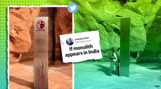 monolith, monolith mystery, monolith in india, monolith memes, if monolith is found in india, monolith memes of india, viral news, funny news, indian express