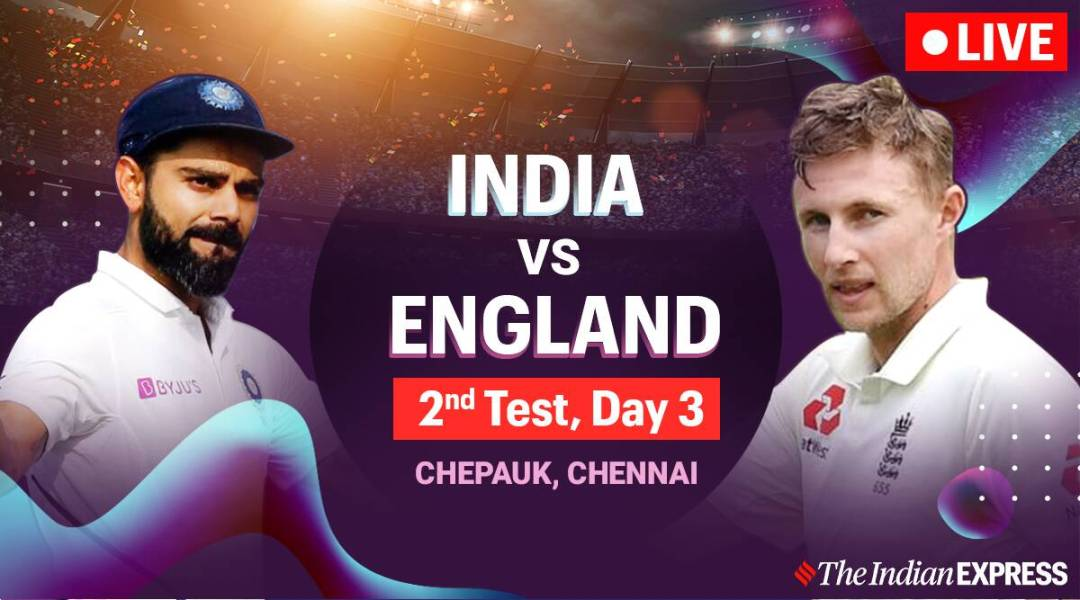 india vs england 2nd test day 3 live score