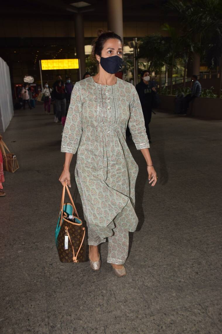 Malaika Arora Wearing Fizzy Goblet 1 From Malaika Arora to Alia Bhatt: How Bollywood is travelling in comfort and style