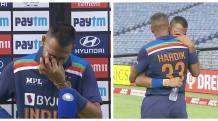 'This one is for my dad': Krunal Pandya breaks down in tears after smashing fastest 50 by ODI debutant