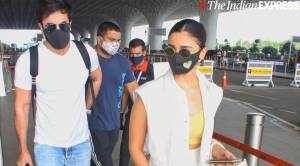 Ranbir Kapoor, twin Alia Bhatt in white as they go on holiday after recovering from Covid-19, see pictures