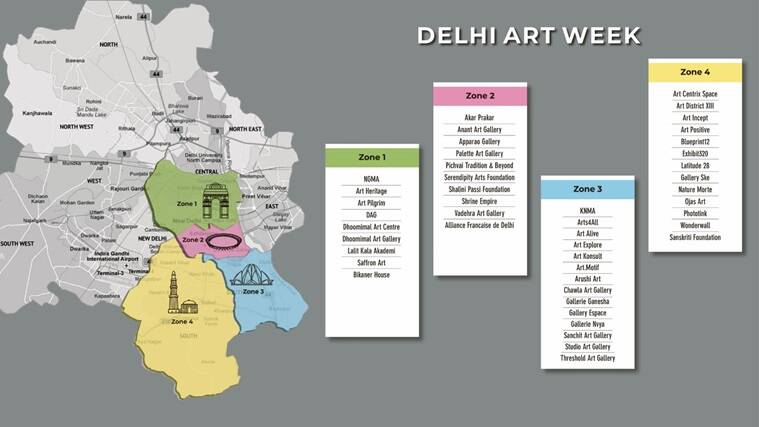 DAW Delhi Map with Zones759 - Delhi Art Week brings together museums, art institutions and 37 galleries to put art back in the spotlight