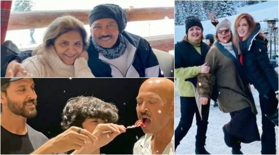 """Hrithik Roshan's ex-wife Sussanne writes in pencil """"Mama-Papa"""" Rakesh Roshan, Pinky on her 50th wedding anniversary: """"I wish you a world of love"""""""