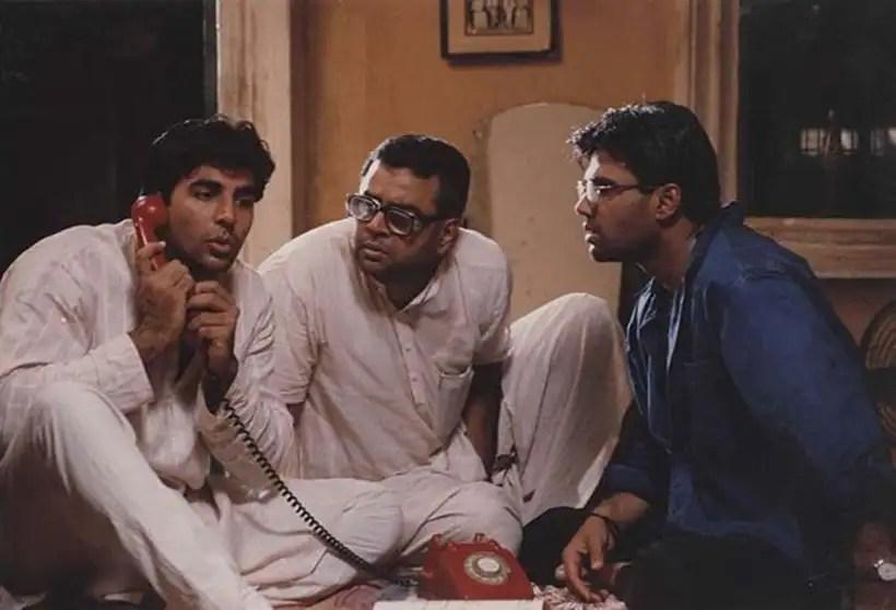 Film Star Akshay Kumar, paresh Rawal and Sunil Shetty in Hera Pheri