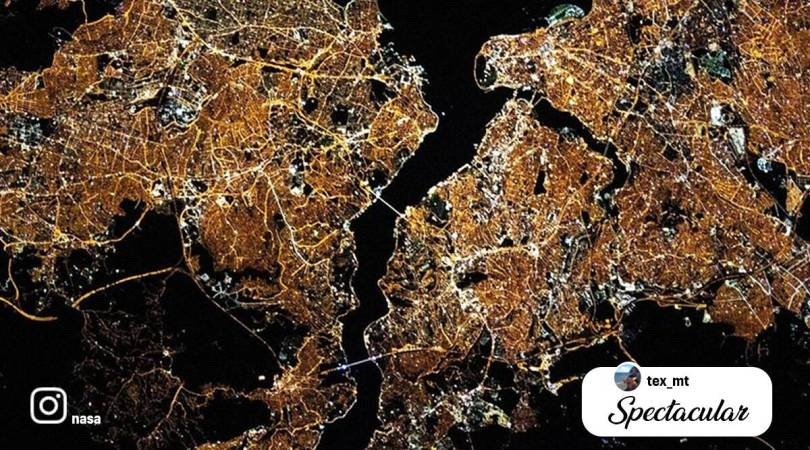 'Hey, Istanbul. You're glowing!': NASA shares stunning image of city from space