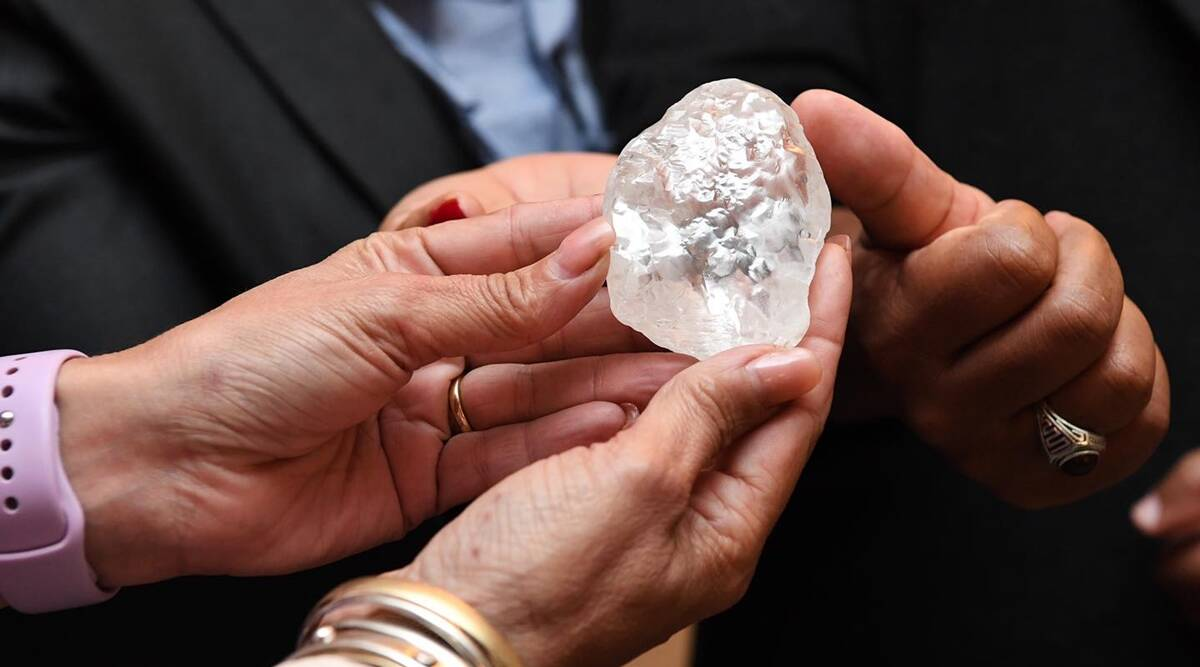 De Beers unit discovers 1,098 carat gigantic diamond in Botswana, could be  third-biggest ever   Business News,The Indian Express