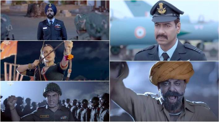 Bhuj The Pride of India trailer: Ajay Devgn, Sanjay Dutt film drops bombs  and dialogues with fierce regularity | Entertainment News,The Indian Express