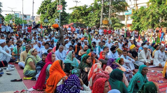 delhi farmers protest, singhu border protest, punjab harvest season, delhi news, farmers protest, india news, indian express