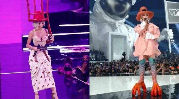 Chair hat to chicken feet boots: Everything Doja Cat wore at 2021 MTV VMAs    Lifestyle News,The Indian Express