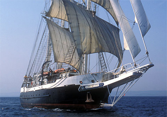 British tall ship Lord Nelson, on round the world voyage, docks in Kochi