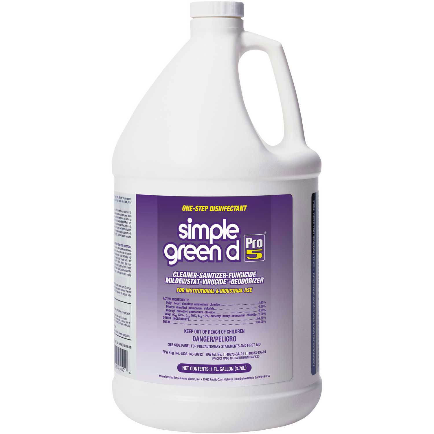D Pro 5 One Step Germicidal Cleaner And Deodorant 1 Gal